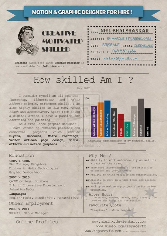 not your average resume blarney marketing design
